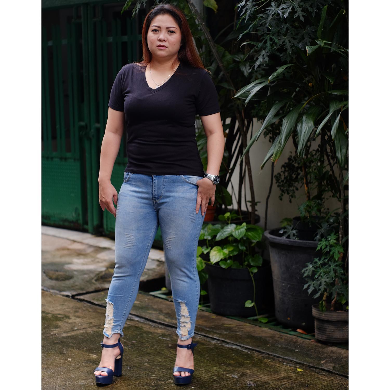 Celana Jeans 7per9 Jumbo Wanita Y146 Skinny Jeans Stretch Fashion Cewek Kekinian Murah Berkualitas