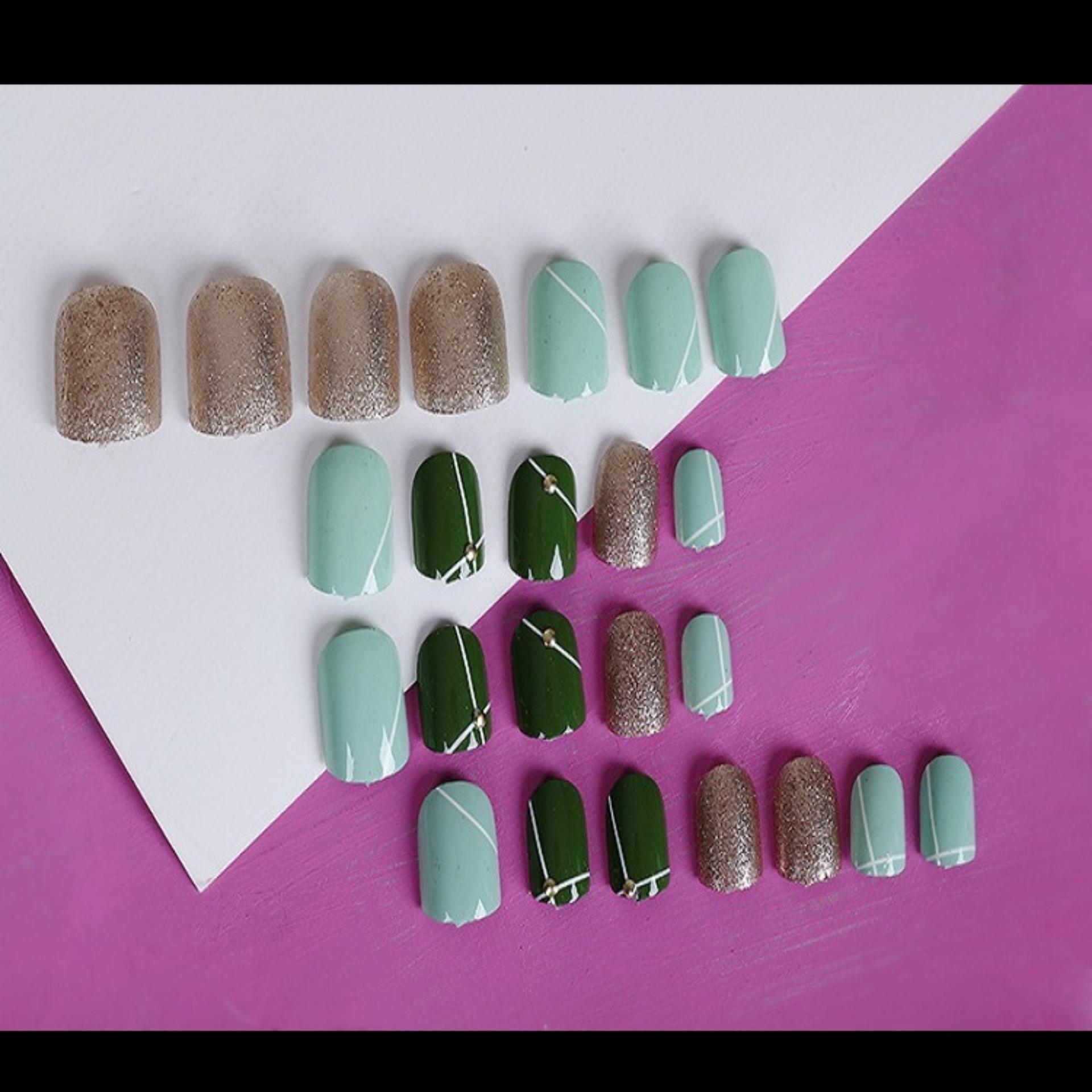 Lihat Jbs Nails Kuku Palsu Pengantin Warna 3d A3 Dan Harga Terbaru Wedding A39 4