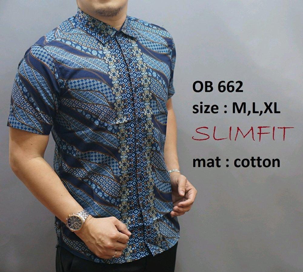 Kelebihan Baju Kemeja Hem Batik Pria Slimfit Ob673 Lengan Pendek Di Panjang 2 Layer Mlxl Lapak New Trendy Newtrendy