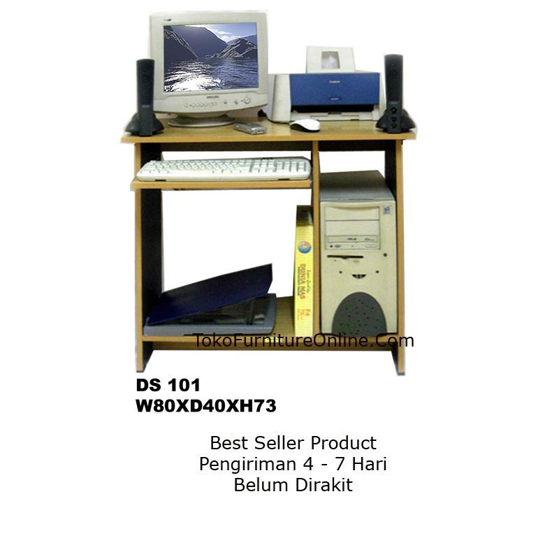 Meja Kerja Kantor Komputer Laptop Sekolah Belajar D101