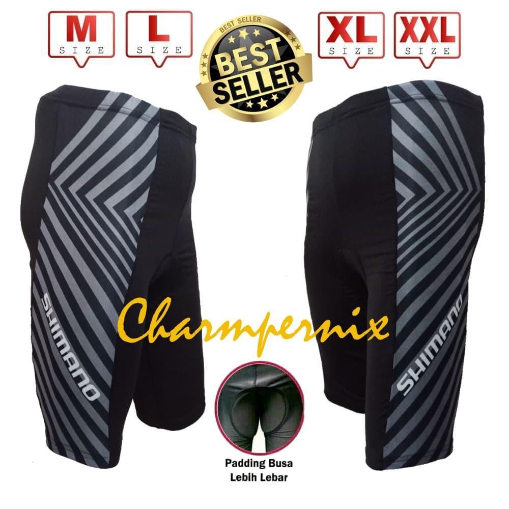 Celana Sepeda Ketat Padding busa  Hitam XL   Terlariss