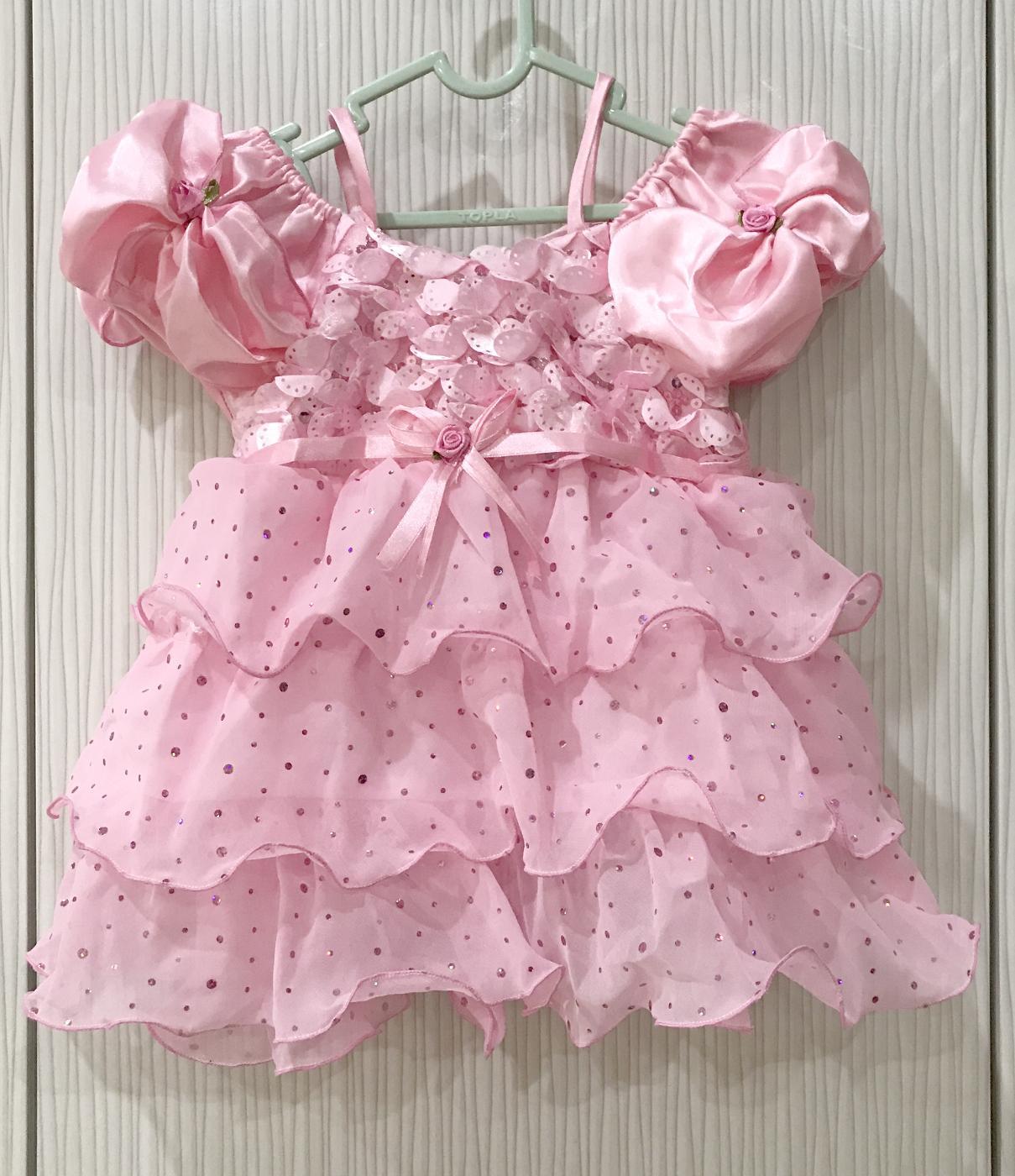 BAYIe - Baju Bayi Pesta Anak Perempuan model Tali Pundak umur 1 - 2 tahun PANCA INDAH/Dress Gaun Pesta anak cewek