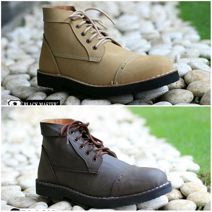 Big Sale Branded !! Sepatu Boots Pria Black Master Zara Tracking Touring Kerja