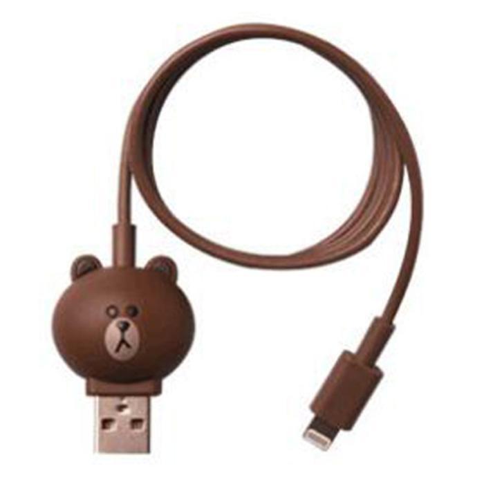 Kabel Charger Lightning Model Brown Line - Brown