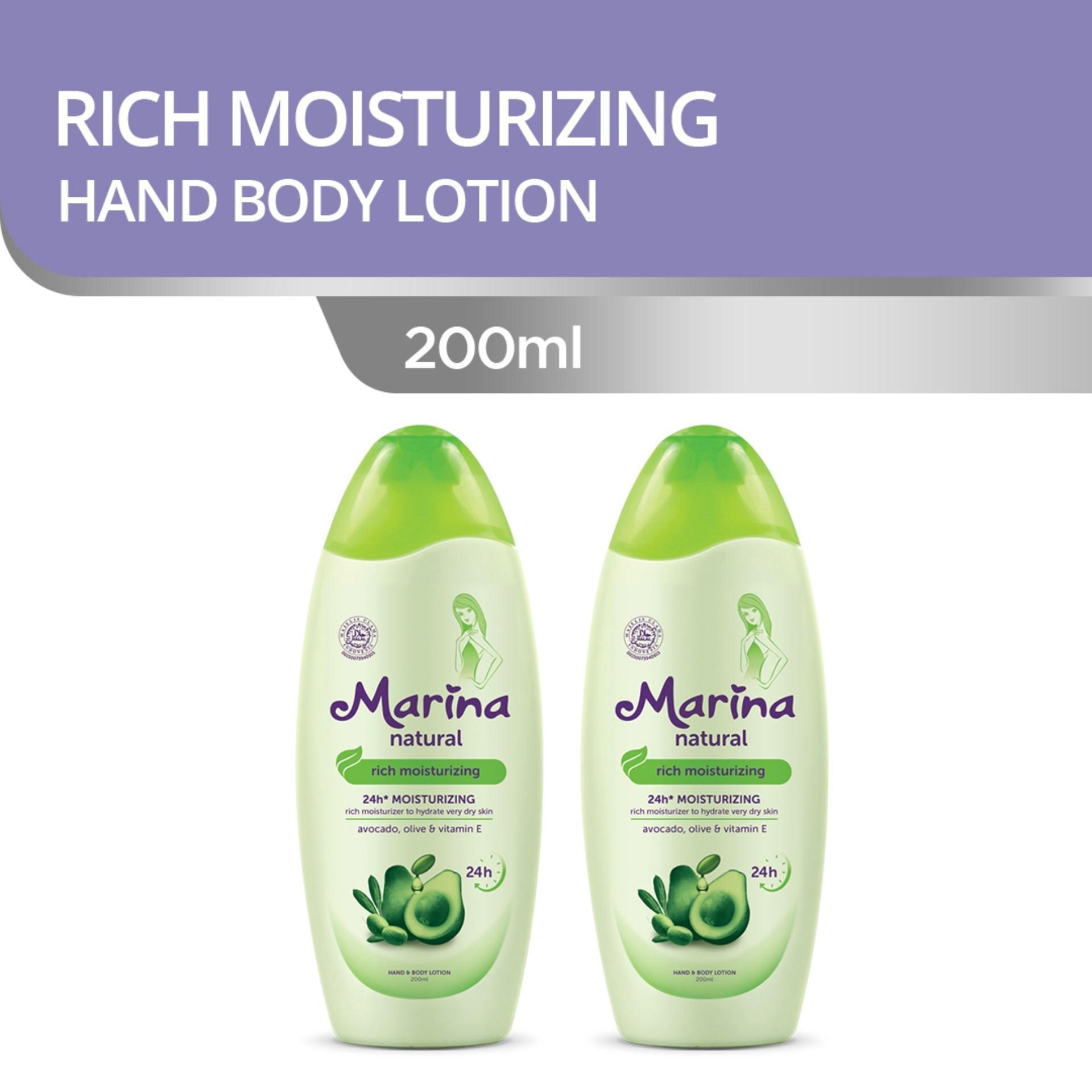 Kelebihan Marina Hand Body Lotion Natural Nutri Fresh 350 Ml 100 Rich Moisturizing 200 2pcs