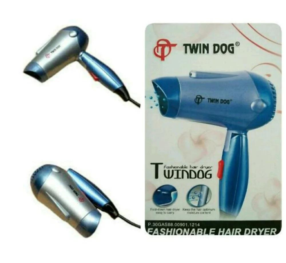 HAIR DRYER TWIN DOG - Pengering Rambut, Praktis Bisa Dilipat/Ditekuk