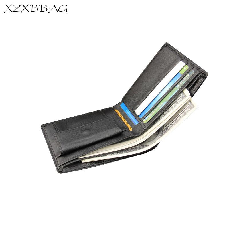 XZXBBAG Men Fashion Short Wallets Vintage Money Clips Male PU Leather Thin Purse Casual Money Clips