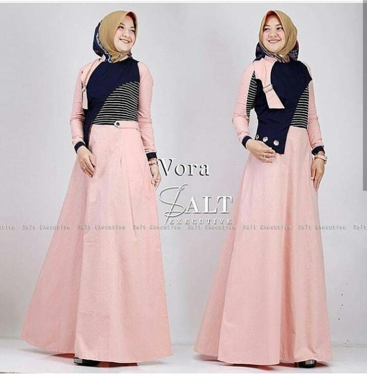 Gamis Serena Dress Baju Panjang Muslim Casual Wanita Pakaian Hijab Modern  Modis Trendy . 884a5c1930
