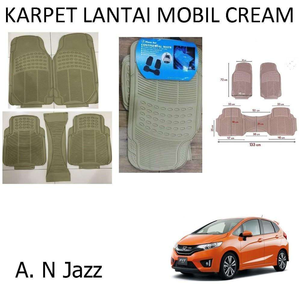 Karpet Mobil All New Jazz / Car Carpet / Floor Mats Universal Warna Cream