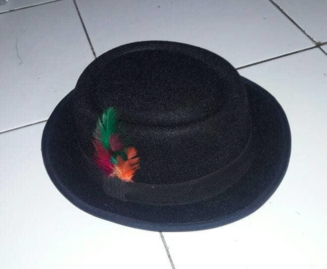 topi fedora bulu / pork pie hat bulu / topi murah stok terbatas PROMO