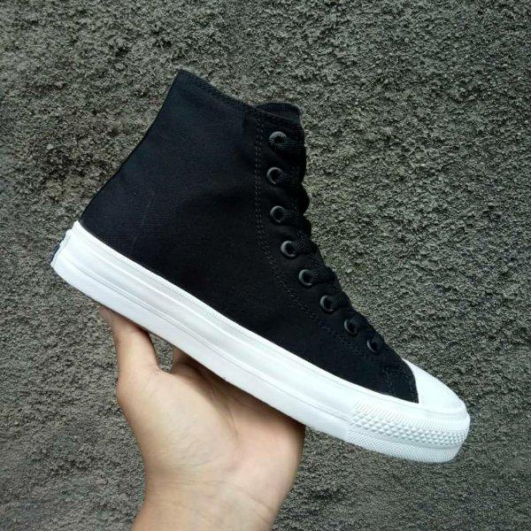 sepatu sneakers converse all star ct hi low cut premium unisex-hitam