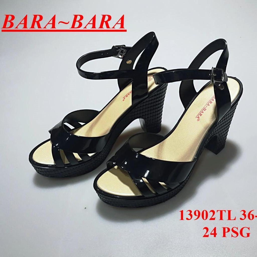 Bara Bara Jelly Shoes Wanita - Sepatu Sandal Heels Wanita Jelly Import VIO 13902 Warna Metalik