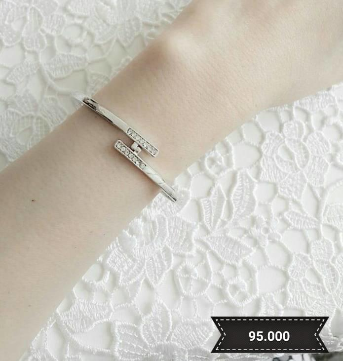 Bangles - White Gold Cartier Ring Bracelet