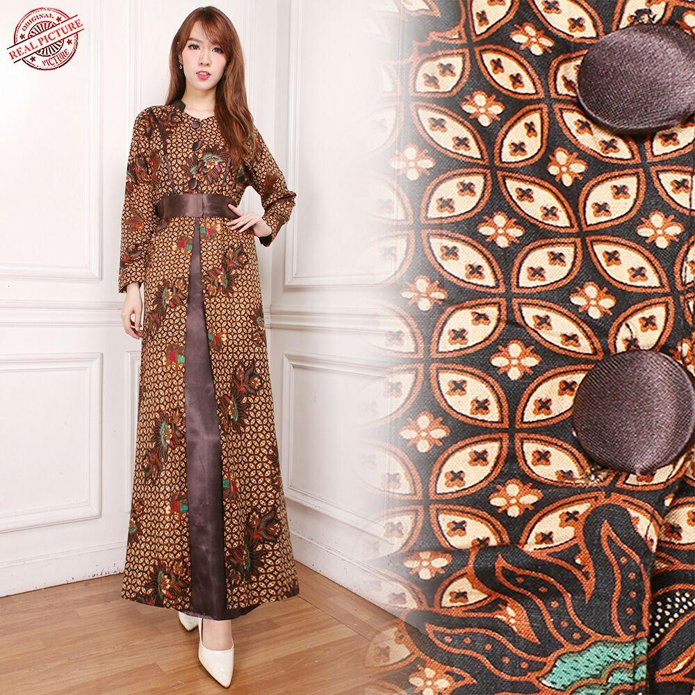 Cj collection Dress maxi panjang gamis kaftan wanita jumbo long dress Lina