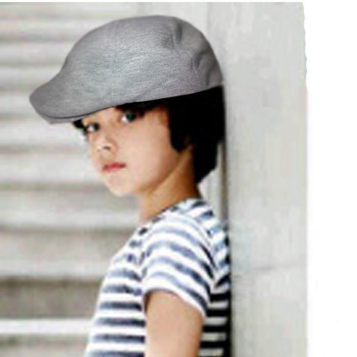 topi pet anak / topi pelukis / topi kodok anak hitam dan abu abu PROMO