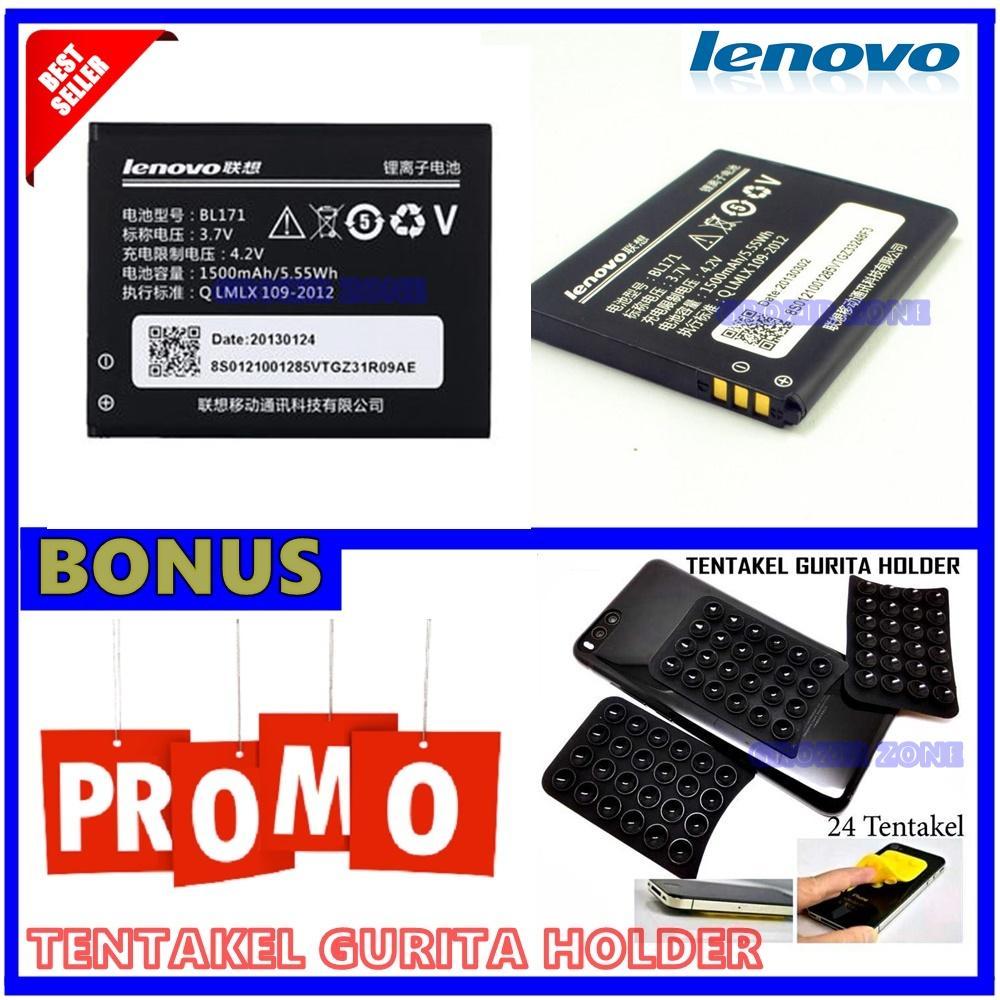 Lenovo Baterai / Battery BL171 For Lenovo A390 / A60 Original - Kapasitas 1500mAh + Gratis Holder Gurita ( Grozir Zone )