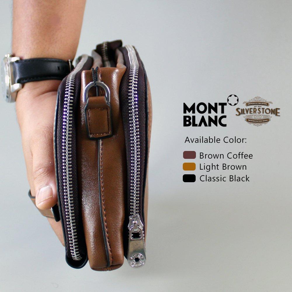Fitur Montblanc Premium Handbag Cl 02 1 Small Tas Tangan Clutch Pria Pouch Bag Dan Wanita Coklat Detail Gambar Dompet Kulit Laki Cokelat Muda Terbaru