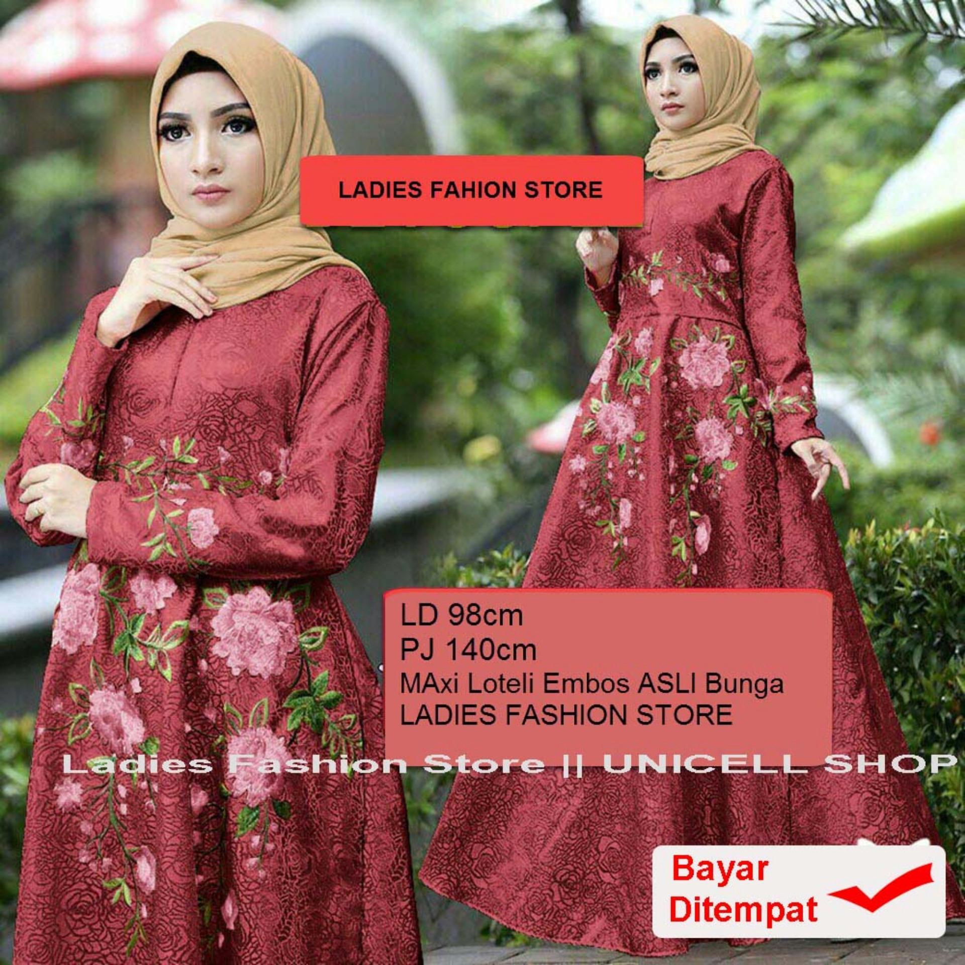 Baju Wanita Shop Dress Gamis Muslim Iyana/ Set Terusan Maxi Hijab Syar'i/ Syari Simple Elegant / Baju Muslimah Wanita / Kebaya Modern Baloteli Tanpa Pasmina (anaay) SS - Maroon / Gaun Pesta