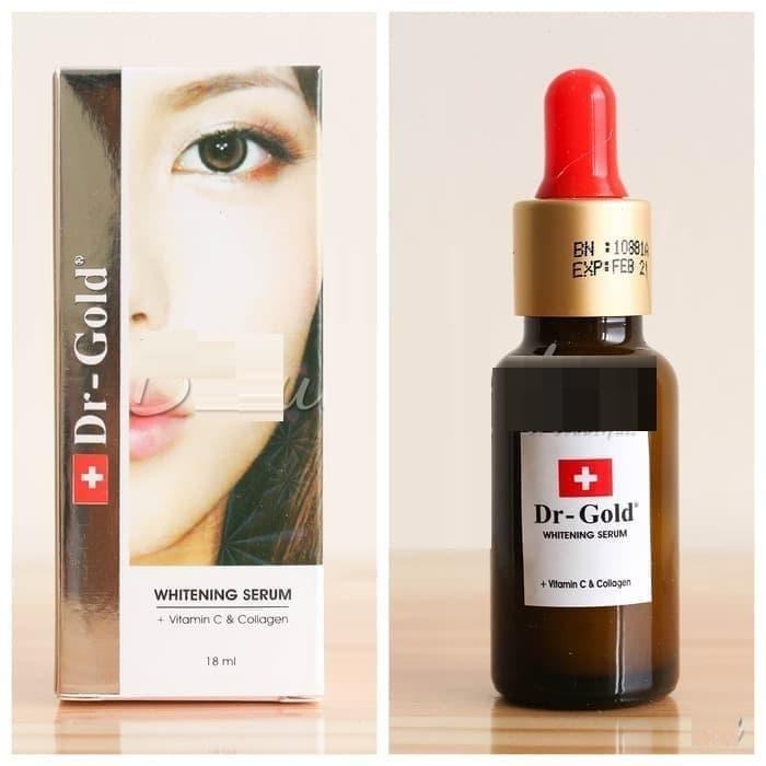 Whitening Serum Vitamin C dan Collagen Dr Gold