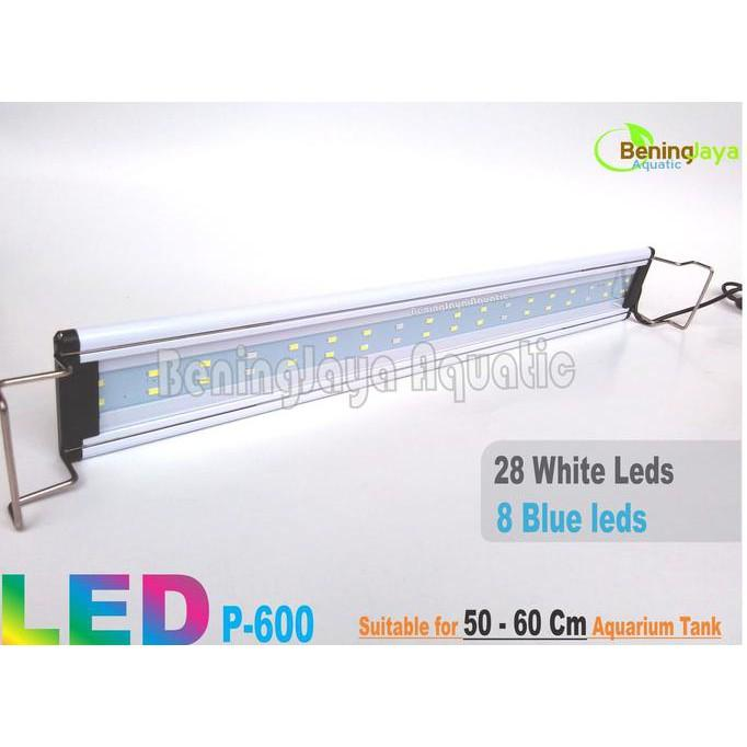 BEST SELLER!!! Lampu LED YAMANO P600 9Watt ( 50 -60 CM) Untuk Aquarium / Aquascape