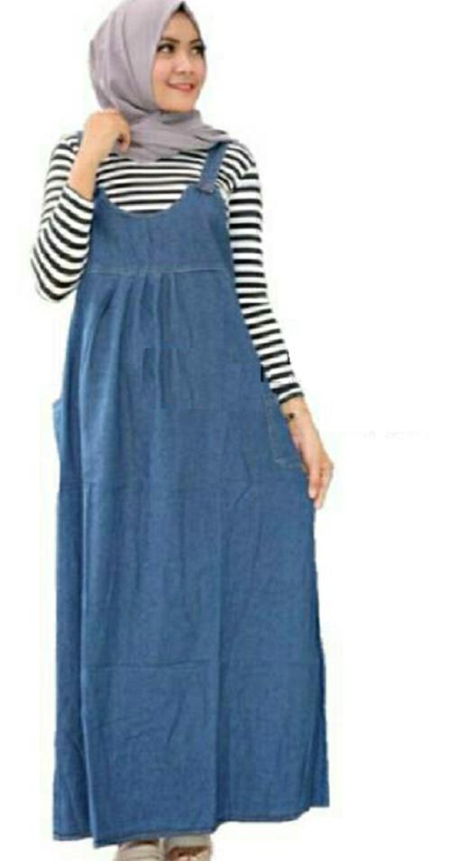 Audrey Fashion _ YARA Overall Jeans - Gamis Ibu Hamil
