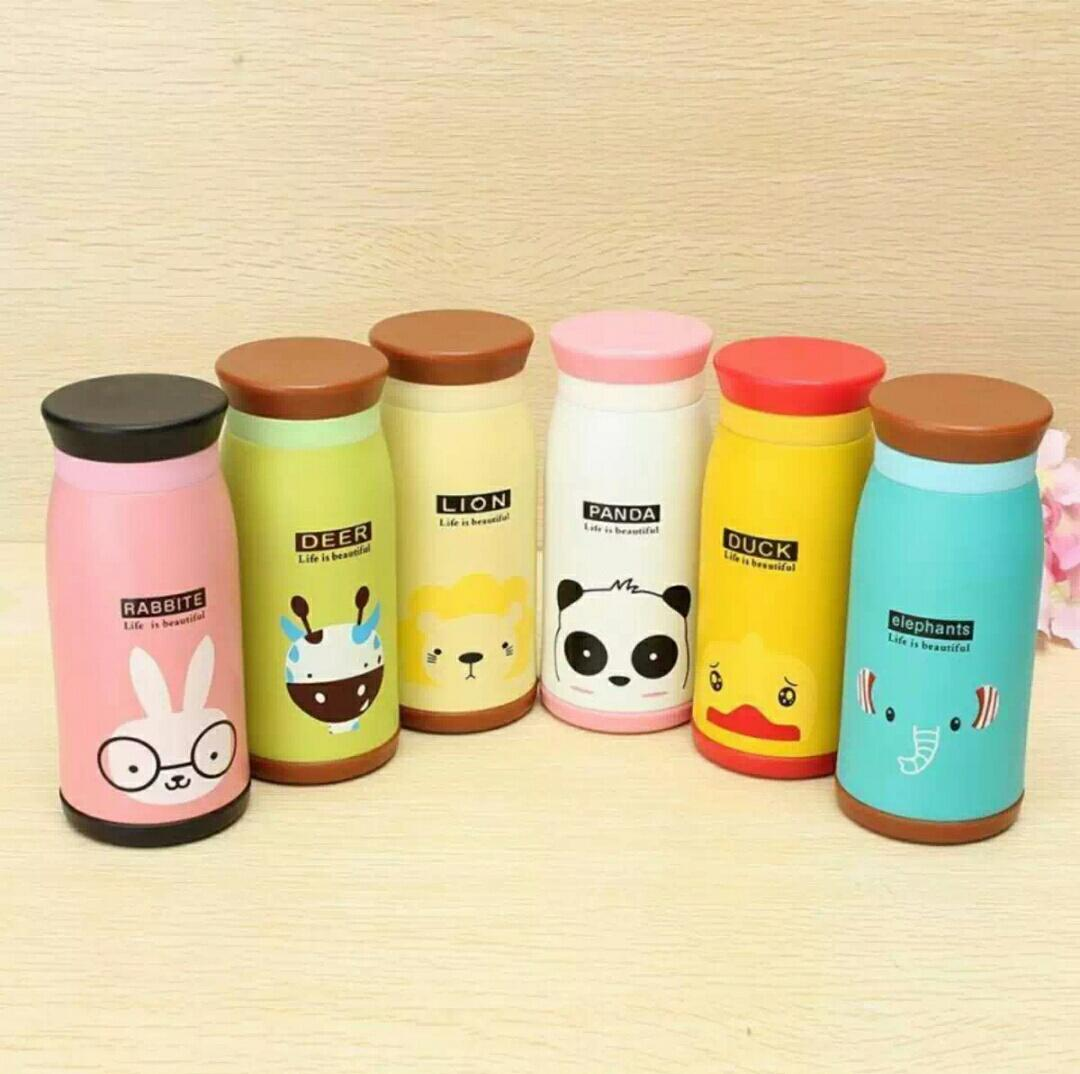 Cari Harga Asgarcollection Termos Botol Minum Karakter Animals A5 Memo Bottle Doff Soft Do Your Best Flat 420ml 3