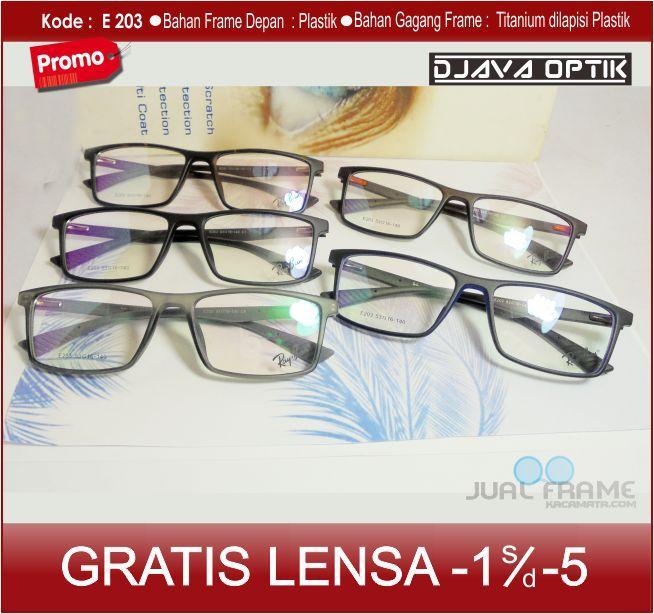 Jual Frame Kacamata e203 + Lensa minus/plus/silinder Untuk pria dan wanita kacamta baca