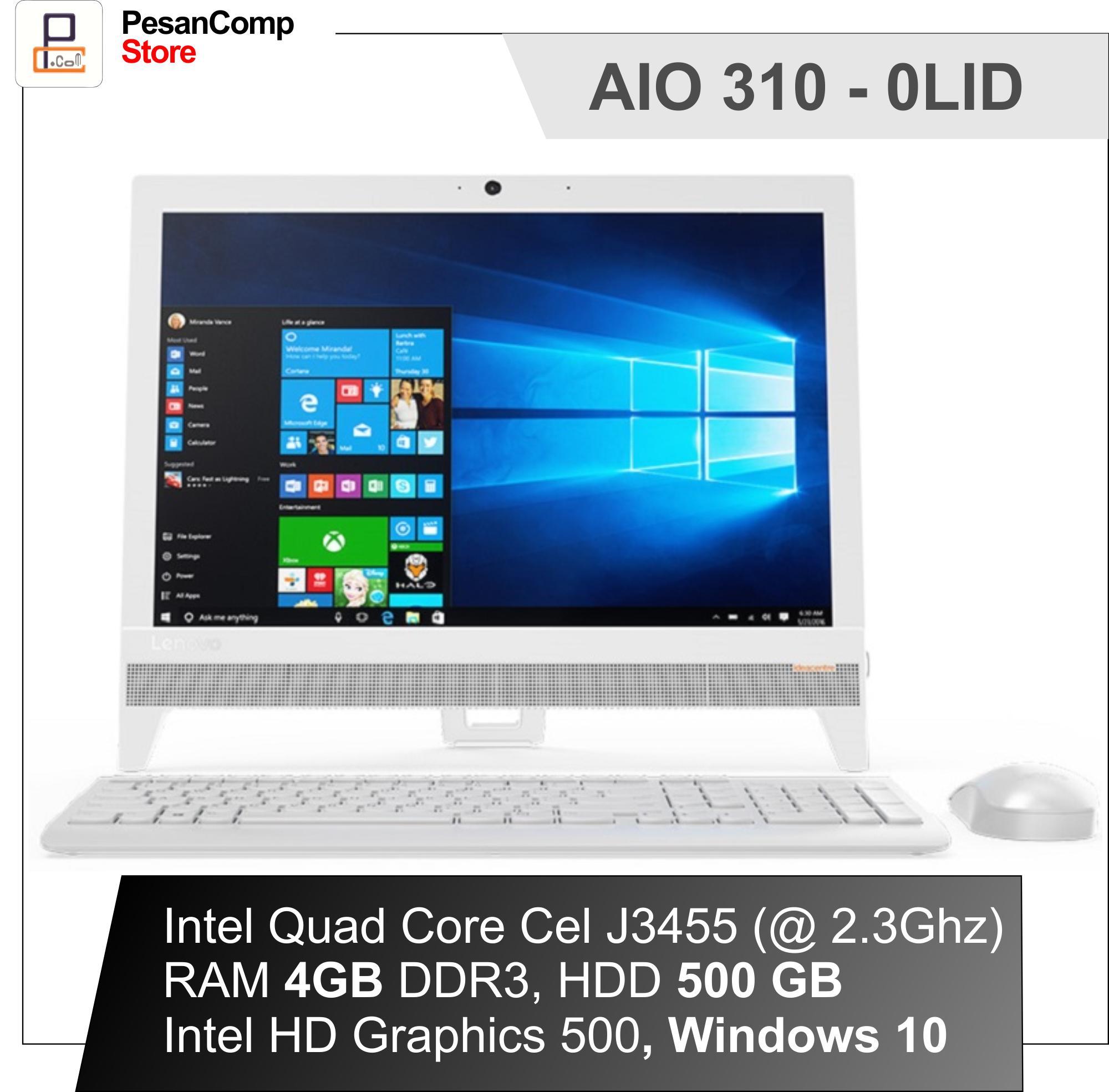 Lenovo AIO 310 - 0LID Intel J3455 FOCL000LID RAM 4GB HDD 500GB Win10 19'5