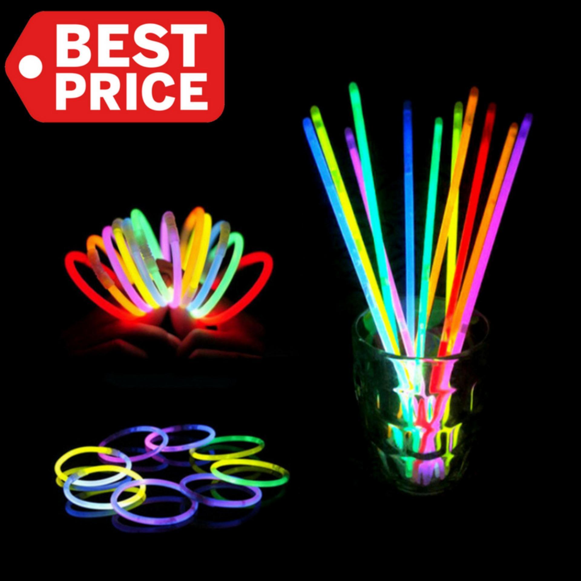 TOKO49 - Glow Stick Warna Warni 1 Tabung = 100 pcs Gelang Tongkat Fosfor