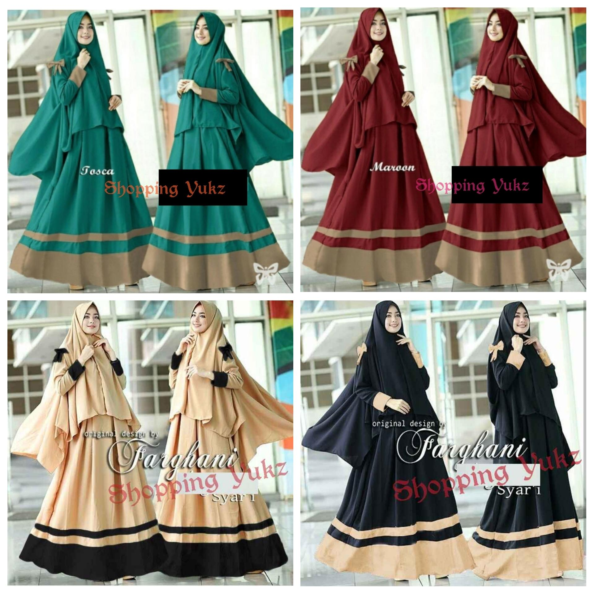 Shopping Yukz Baju Gamis Maxi Dress Muslim Wanita Syari 2in1 AIRYA ( Dapat Jilbab ) / Dress Muslim / Gamis Wanita / Baju Muslim / Hijab Muslim / Fashion Muslim / Syar'i Muslim / Maxi Dress Lengan Panjang / Gamis Modern