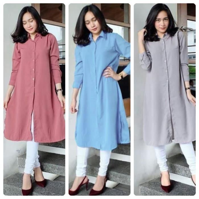 Baju Atasan Deva Long Tunik Blouse Baju Muslim Blus Muslim / jaket / jaket wanita / jaket dewasa / jaket anak / jaket motif / jaket murah / jaket keren / jaket lucu / jaket berkualitas