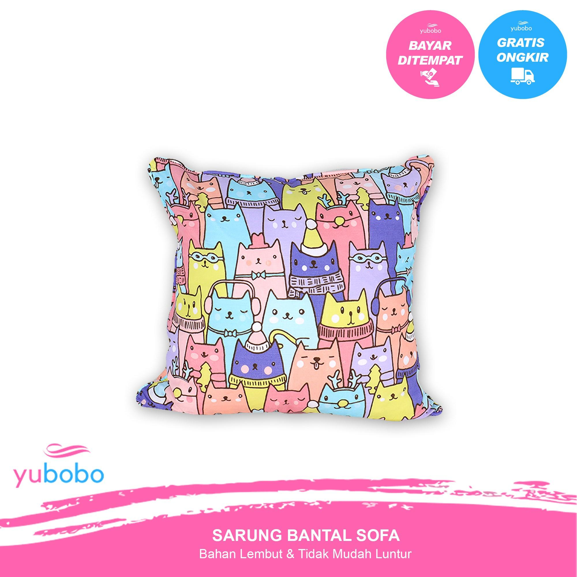 yubobo - Promo (Sarung + Bantal) Sofa Tamu 40 x 40 cm - Kursi - Bantal Standar Hotel  (Sarung + Bantal)