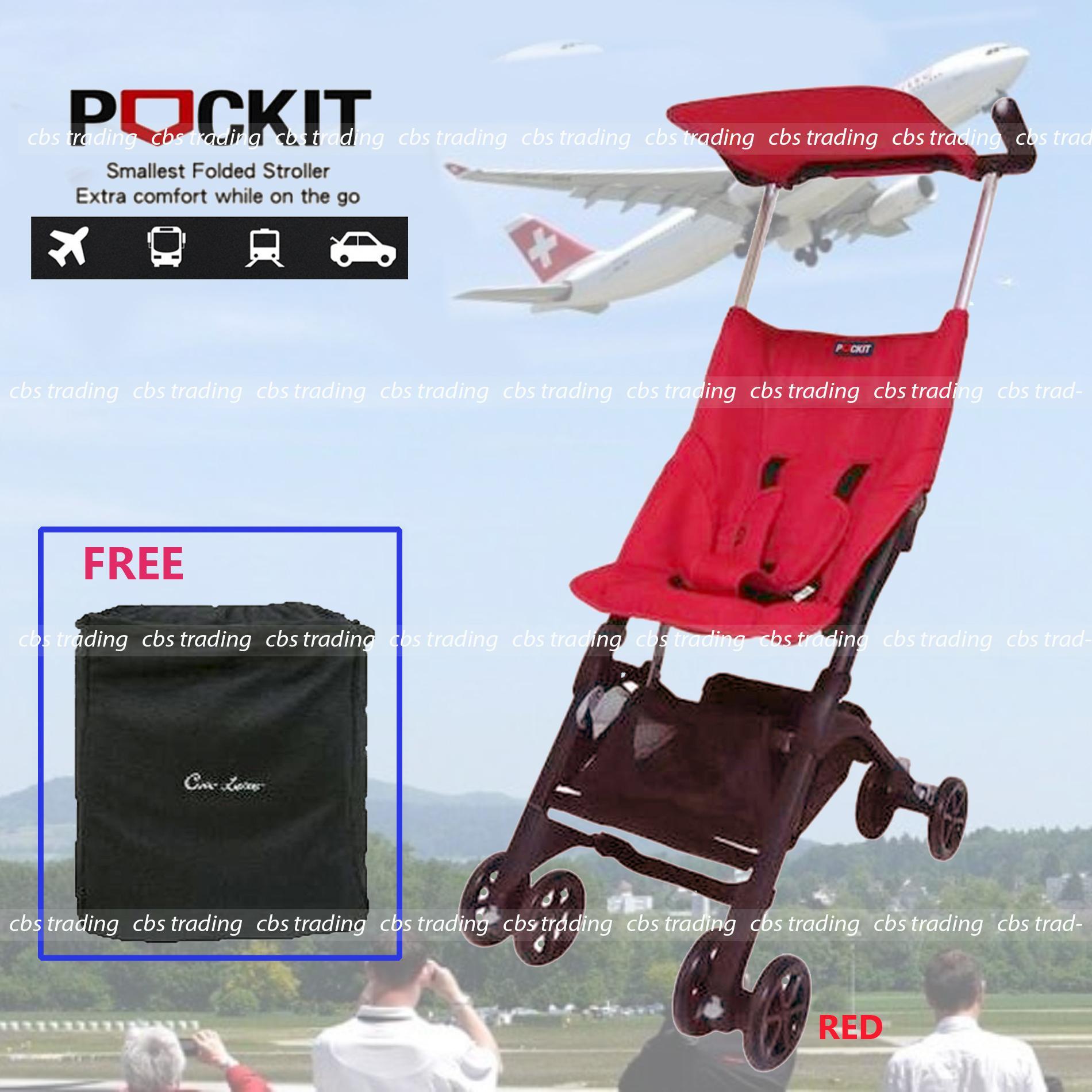 Cocolatte  Stroller CL-688 Pockit With Bag - Kereta Dorong Bayi - Merah