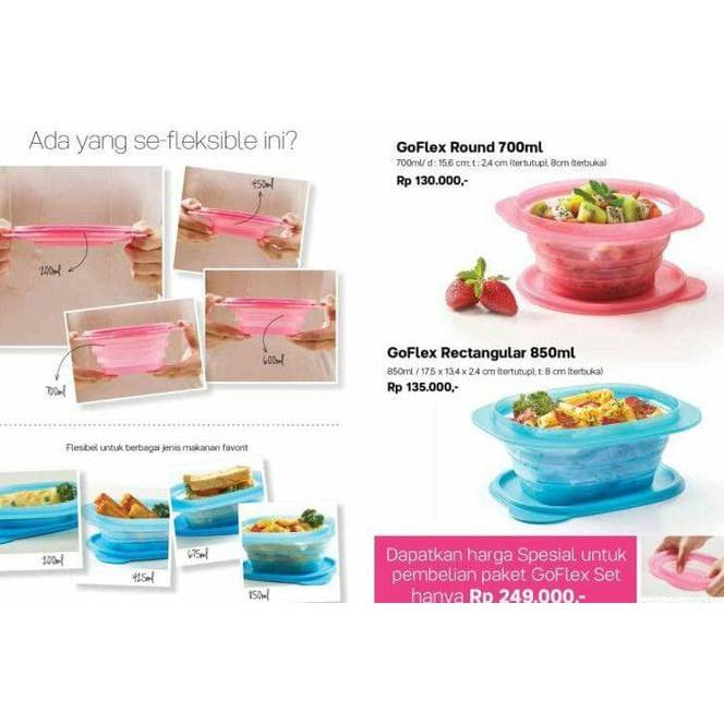 Hot Go Flex Set Tupperware -----
