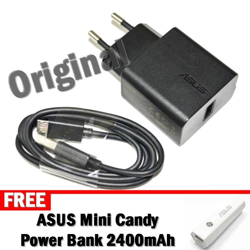 ASUS AD897 Travel Charger 2A Fast Charging Ori + Gratis ASUS PowerBank Mini Candy 2400mAh