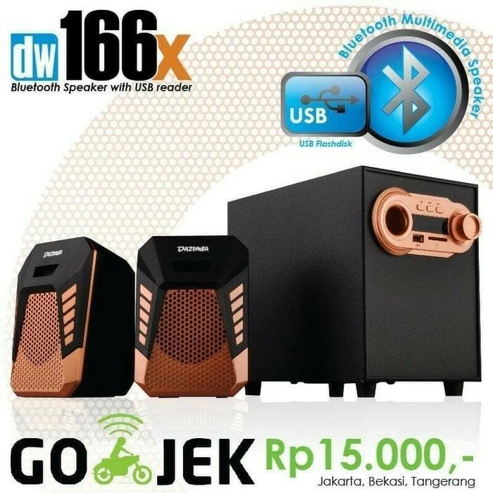 Speaker Dazumba Aktif Portable DW166X Bluetooth Subwoofer BASS