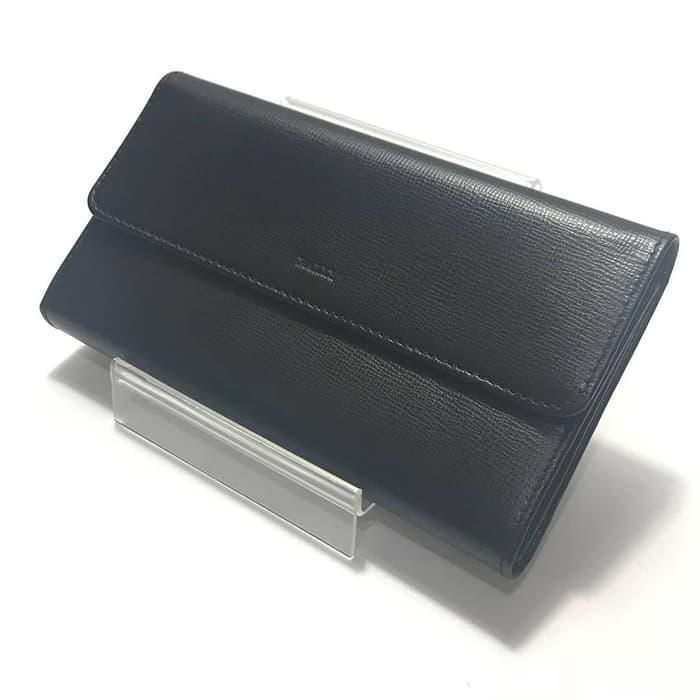 Dompet Bally Original / Bally Memna Flap Wallet Black