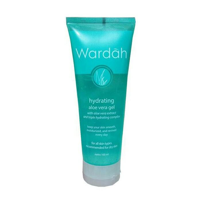 wardah hydrating aloe vera gel / pelembab wajah terbaik / cream pelembab wajah / gel pelembab perawatan kecantikan original