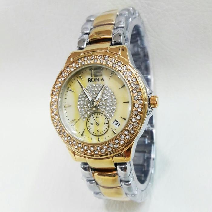 PROMO TERBATAS!!! Jam Tangan Wanita Murah Bonia 5570 Kombi Gold Terbaru Murah