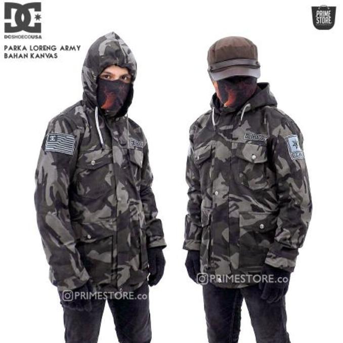 Jaket Parka Loreng Army / Parka Army Dc / Jaket Parka Dc - Asgfgh