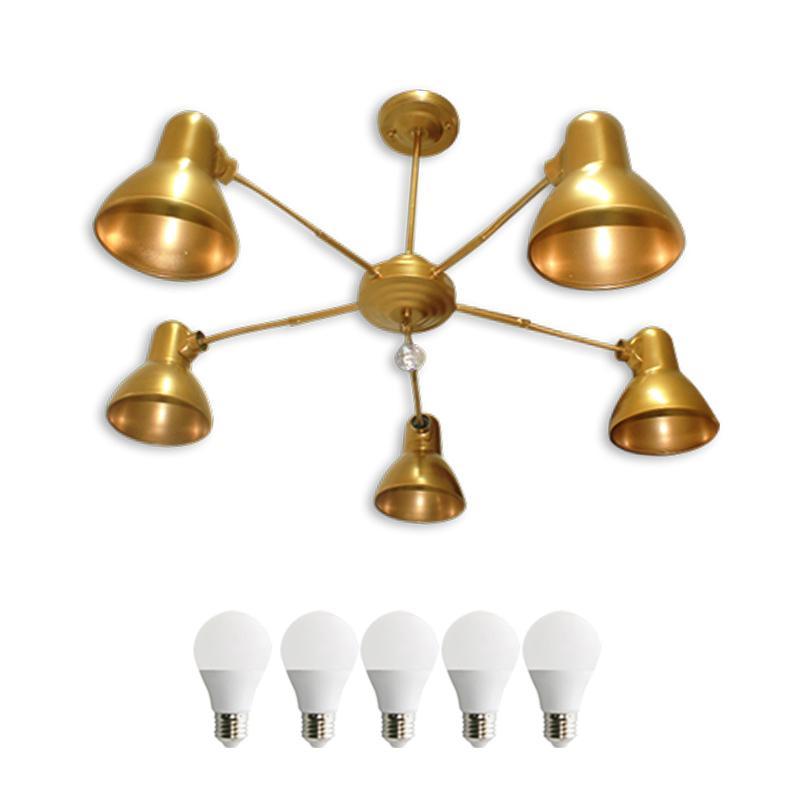 EELIC LHG-45 Lampu Hias Gantung 5 PCS LED 5 Watt Lima Kap Cantik Dengan Selang Flexible Yang Bisa Diubah Arahnya