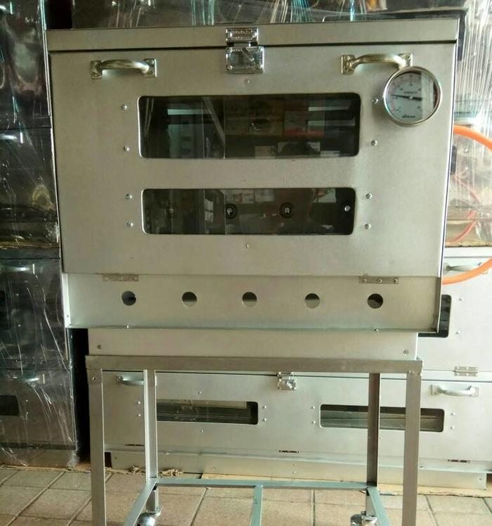 oven gas manual 1 pintu ukuran 60x40x50 cm