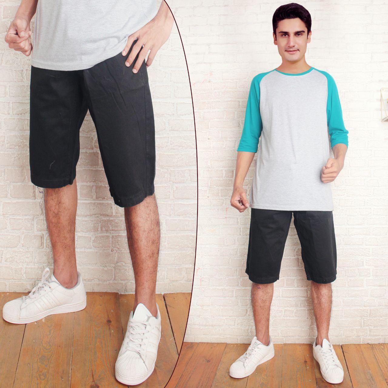 celana pendek pria bahan canvas terbaru premium dressuit