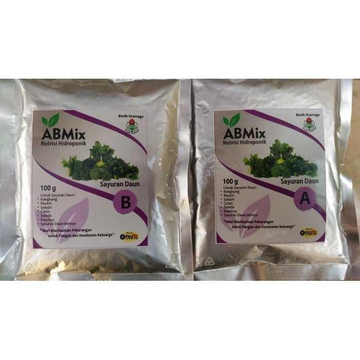 Best Seller!!! Nutrisi Pupuk Hidroponik AB Mix Khusus Sayur isi 200 G untuk 100 L Unik Murah Minimalis