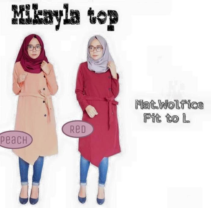 Mikayla Top / Atasan Panjang Muslimah / Baju Remaja Kul RMP