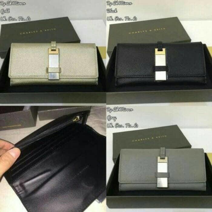 dompet lipat panjang charles and keith mirror detail original - Ji5z6P