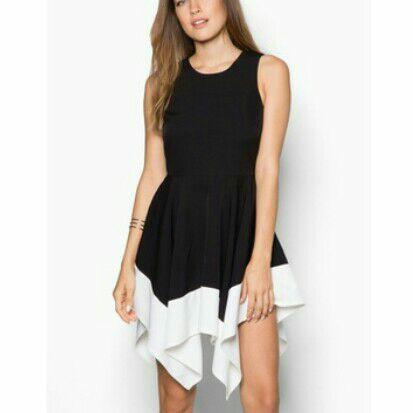 Dress Hitam Putih Zalora XS