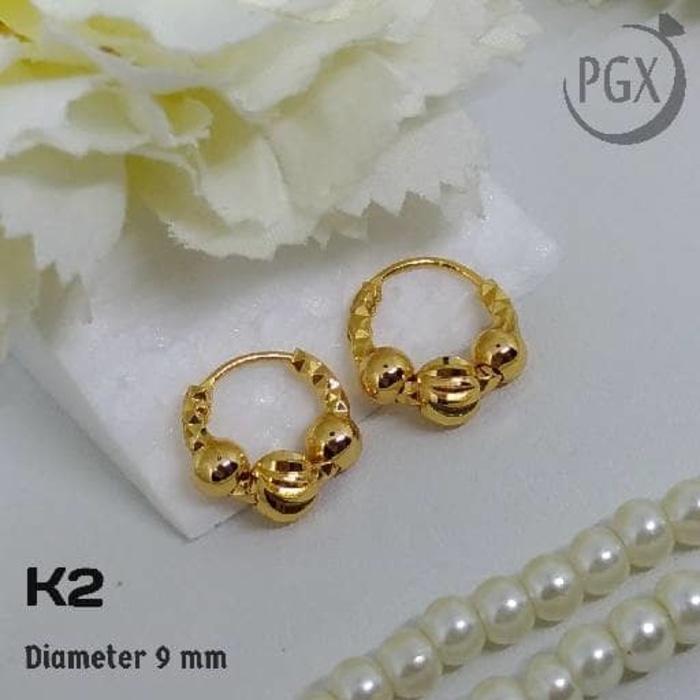 K2 Anting Gipsy Anak / Bayi - XUPING  - Perhiasan Lapis Emas 18K