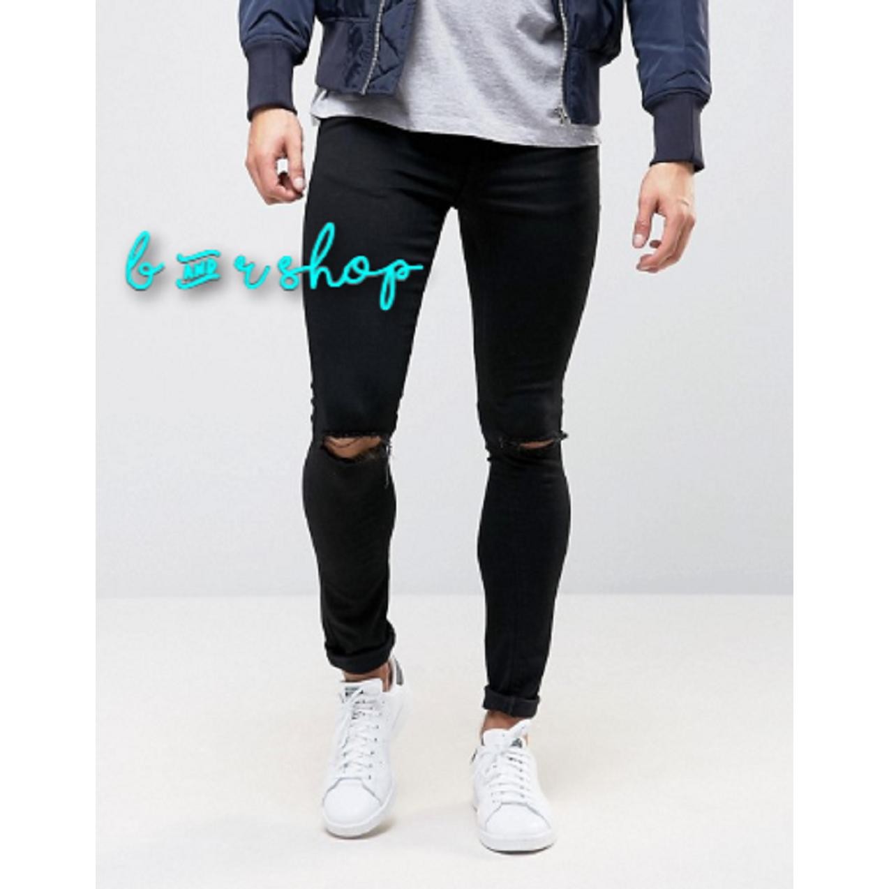 B & R SHOP - Celana Jeans Lois Skinny / Jeans Pria Ripped Sobek Hitam / Jeans Pria Sobek / Jeans Sobek Pria / Jeans Pria / Jeans Rips / Jeans Robek / Jins Sobek / Jins Robek / Jins Ripped