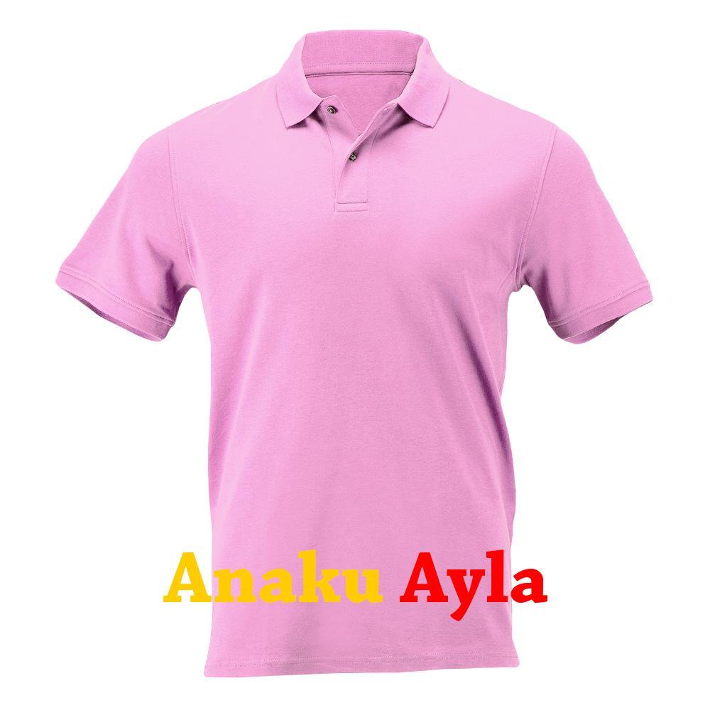 Anaku Ayla - Terbaru Kaos Kerah Polos Pendek Lacos Pique Model Polo Shirt